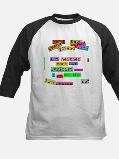 I am writer Kids Baseball Jersey