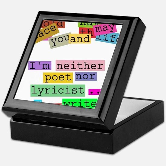 I am writer Keepsake Box