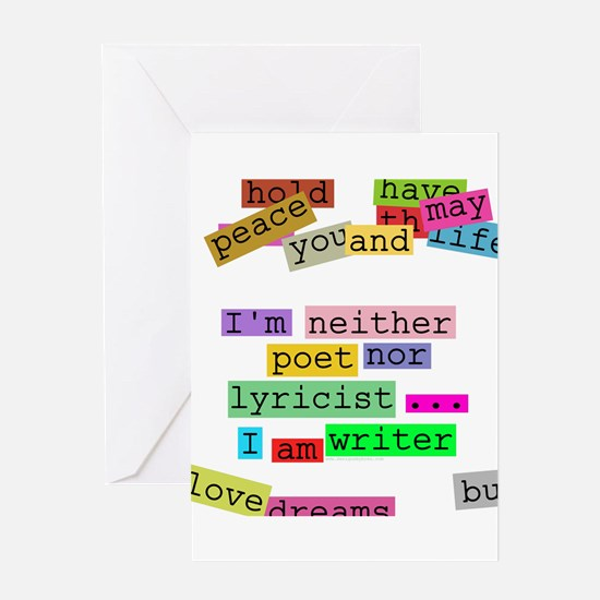 I am writer Greeting Card
