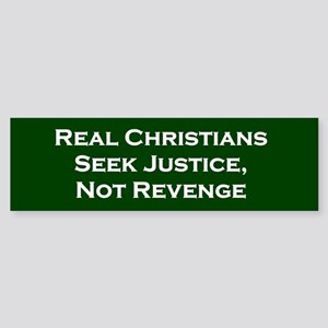Real Christians Bumper Sticker