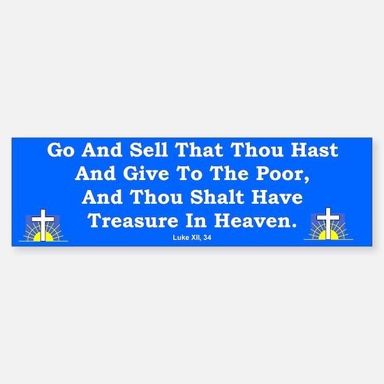 Treasure In Heaven #2 Bumper Bumper Bumper Sticker