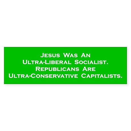 Jesus Socialist Bumper Sticker