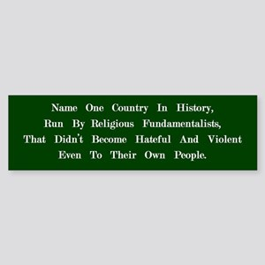 Fundamentalists (Green) Bumper Sticker