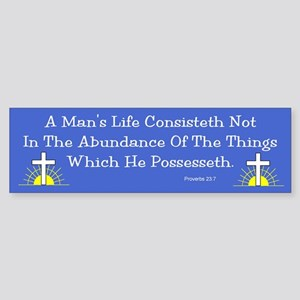 Not Abundance Bumper Sticker