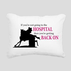 Barrel Racer: Hospital Rectangular Canvas Pillow