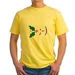 Wink Emoticon - Mistletoe Yellow T-Shirt