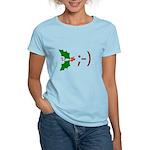 Wink Emoticon - Mistletoe Women's Light T-Shirt