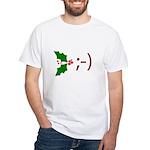 Wink Emoticon - Mistletoe White T-Shirt