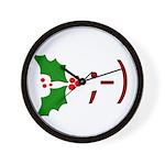 Wink Emoticon - Mistletoe Wall Clock