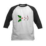 Wink Emoticon - Mistletoe Kids Baseball Jersey