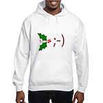 Wink Emoticon - Mistletoe Hooded Sweatshirt