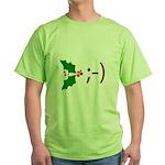 Wink Emoticon - Mistletoe Green T-Shirt