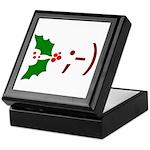 Wink Emoticon - Mistletoe Keepsake Box