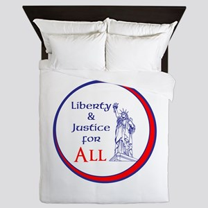 Liberty and Justice for All Queen Duvet
