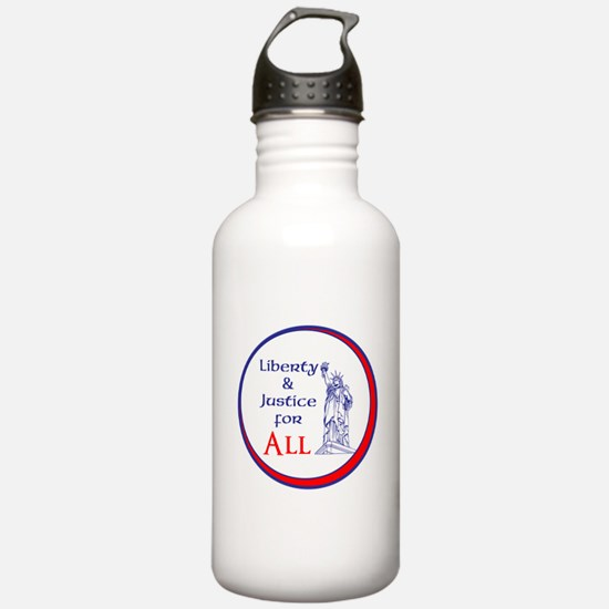 Liberty and Justice for All Water Bottle
