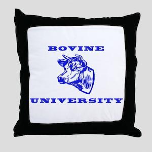 Bovine University Throw Pillow