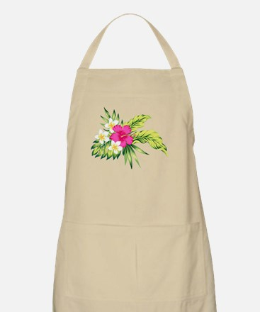 Pink Hibiscus Tropical Flowers Apron