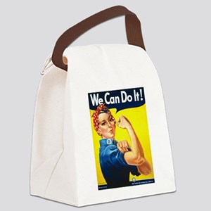 Rosie The Riveter-We Can Do It! Canvas Lunch Bag