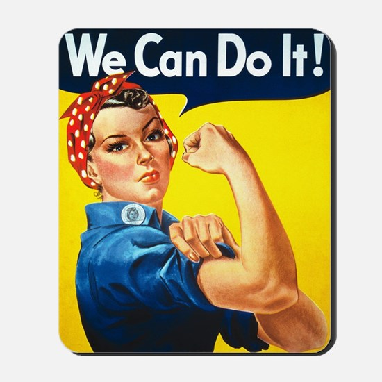 Rosie The Riveter-We Can Do It! Mousepad