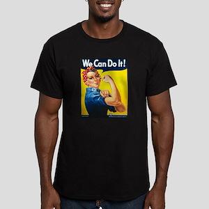 Rosie The Riveter-We C Men's Fitted T-Shirt (dark)