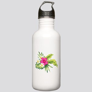 Pink Hibiscus Tropical Stainless Water Bottle 1.0L