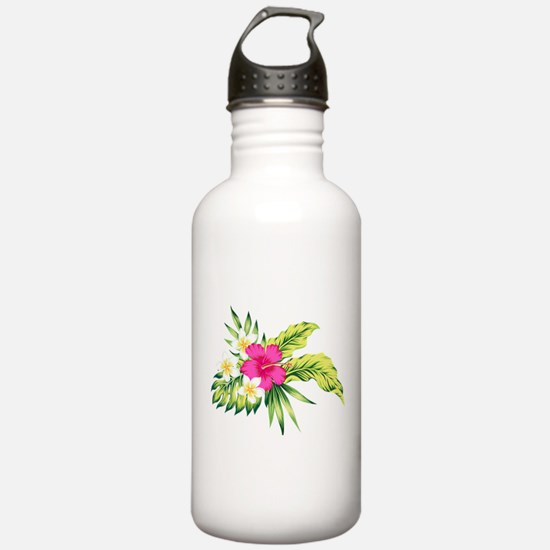 Pink Hibiscus Tropical Water Bottle