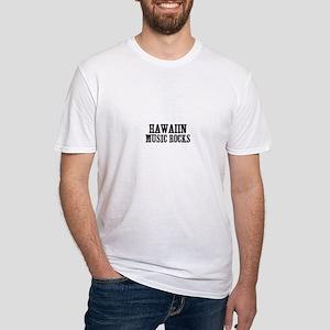 Hawaiin Music Rocks Fitted T-Shirt