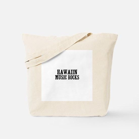 Hawaiin Music Rocks Tote Bag