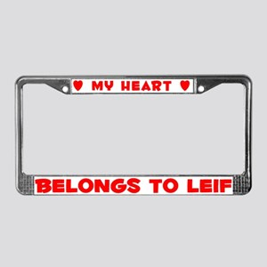 Heart Belongs to Leif - License Plate Frame