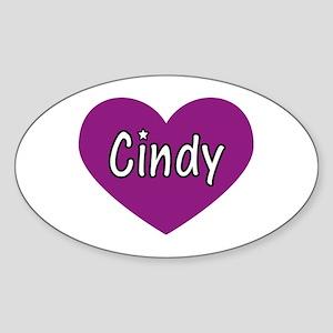 Cindy Oval Sticker