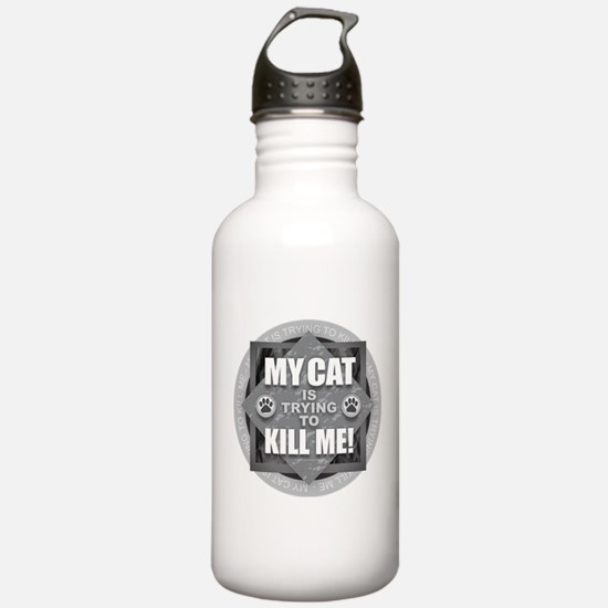 Cat Kill Water Bottle