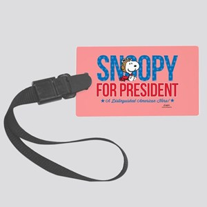 Snoopy for President Full Bleed Large Luggage Tag