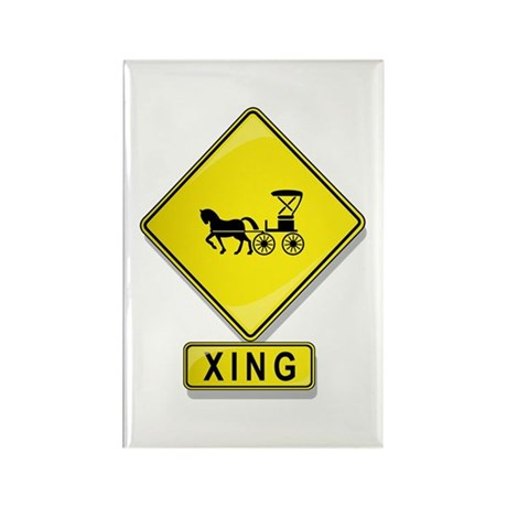 Horse and Buggy XING Rectangle Magnet (10 pack)