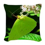 Cloudless Sulfur Butterfly Woven Throw Pillow
