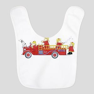 Fire Truck Polyester Baby Bib