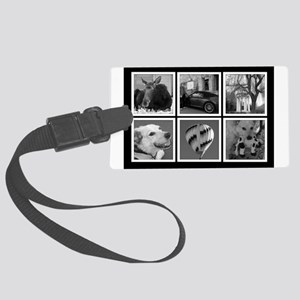 Photo Blocks Your Images Here Luggage Tag