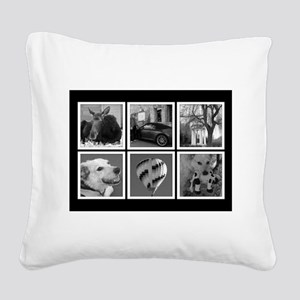 Photo Blocks Your Images Here Square Canvas Pillow