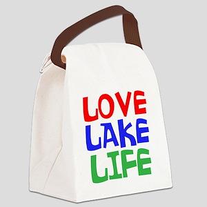 LOVE LAKE LIFE Canvas Lunch Bag