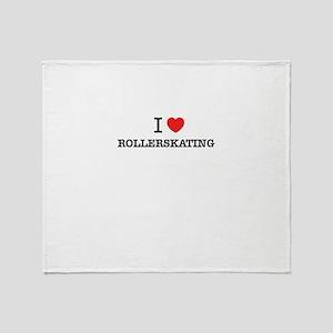 I Love ROLLERSKATING Throw Blanket