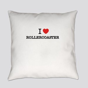 I Love ROLLERCOASTER Everyday Pillow