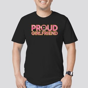 Proud Army Girlfriend Men's Fitted T-Shirt (dark)