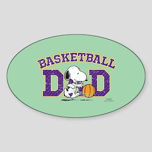 Snoopy - Basketball Dad Full Bleed Sticker
