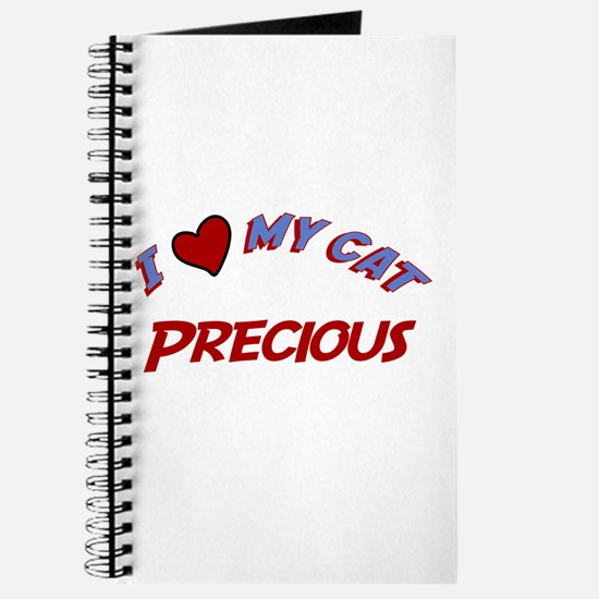 I Love My Cat Precious Journal