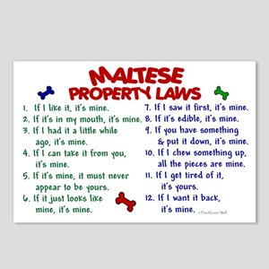 Maltese Property Laws 2 Postcards (Package of 8)