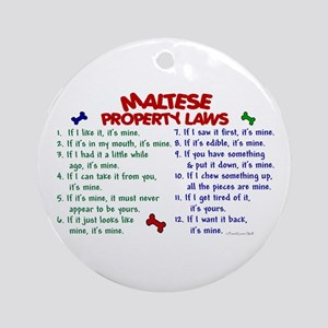 Maltese Property Laws 2 Ornament (Round)
