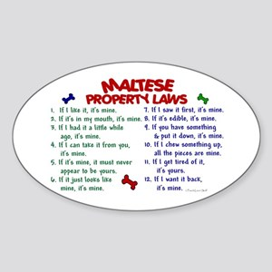 Maltese Property Laws 2 Oval Sticker
