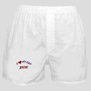 I Love My Cat Sadie Boxer Shorts