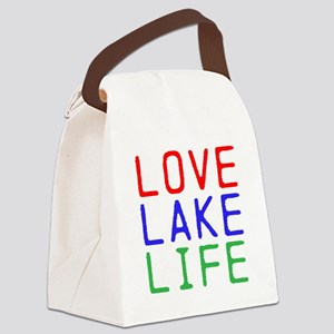 LOVE LAKE LIFE (TW) Canvas Lunch Bag