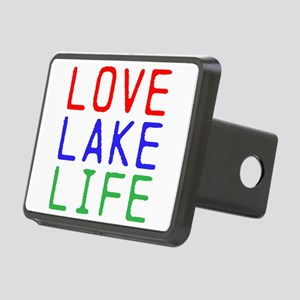 LOVE LAKE LIFE (TW) Rectangular Hitch Cover
