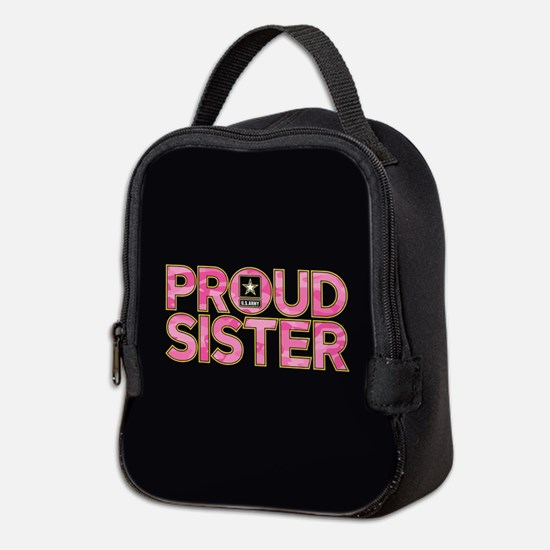 Proud Army Sister Neoprene Lunch Bag